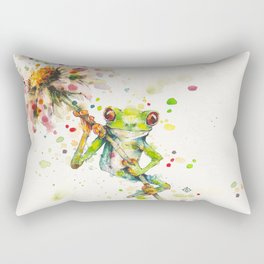 Hello There Bright Eyes (Green Tree Frog) Rectangular Pillow