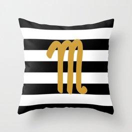 Scorpio Stripes Throw Pillow