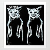 Krang Ghost Cats Black Hoodie Print Art Print