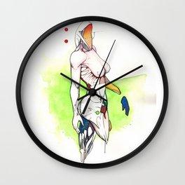 Alexandra Grace, Nude female surrealist drawing, NYC artist Wall Clock
