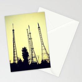 radio station aerials combat Stationery Cards