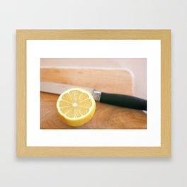 Sliced Lemon Framed Art Print