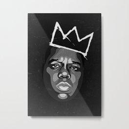 Biggie Basquiat BIG Notorious  Metal Print