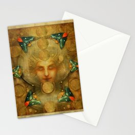 """Art Deco II The Chimera (Moth)"" Stationery Cards"