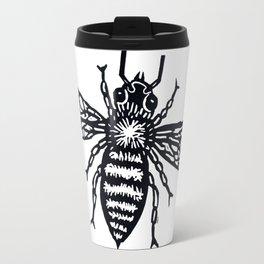 Bee - Black & White Travel Mug