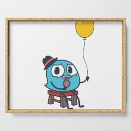 Funny Cute Bird And Balloon Serving Tray