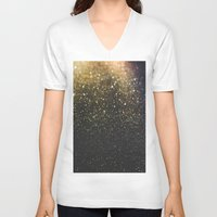 sparkle V-neck T-shirts featuring Sparkle by Jane Lacey Smith