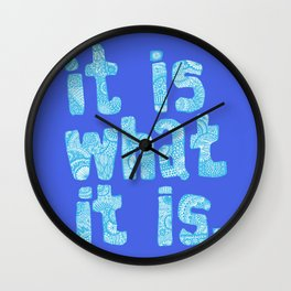 What it is Blue Wall Clock