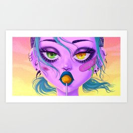 Heavy eyes Art Print
