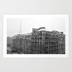 Paris Snow Art Print