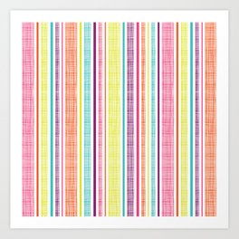 Textured Stripes Art Print