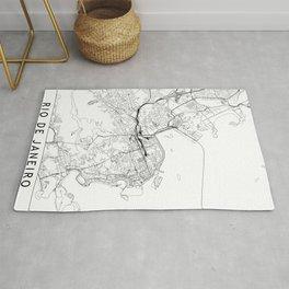 Rio De Janeiro White Map Rug
