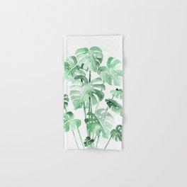 Delicate Monstera Green #society6 Hand & Bath Towel