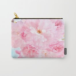 Soft Blue Sky with Pink Peonies Carry-All Pouch