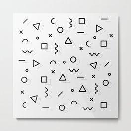 pattern square triangle circle Metal Print