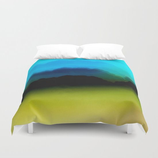 Misty Mountain View Duvet Cover