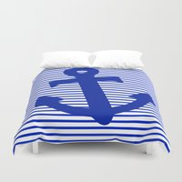 nautical Duvet Covers featuring Nautical by The Wellington Boot