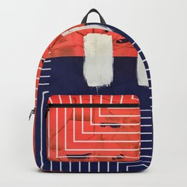 Stitch in Time - line triangle graphic Backpack