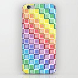 Static Rainbow Squares iPhone Skin