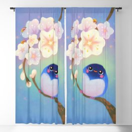 Flower viewing Blackout Curtain