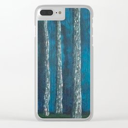 Inside the dark forest Clear iPhone Case