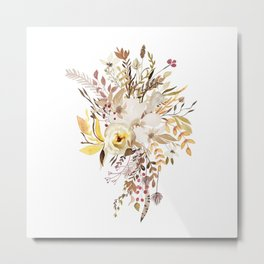 Pretty Autumn Flower Bouquet Metal Print