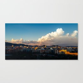 Clouds over Barcelona Canvas Print