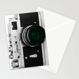 VINTAGE CAMERA Green Lens Stationery Cards