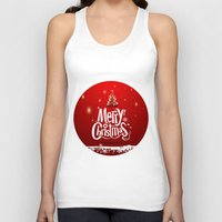 merry christmas Tank Tops featuring Merry Christmas by Cs025
