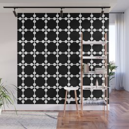 Droplets Pattern - Black & White Wall Mural