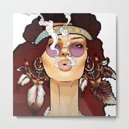 BOHO--GIRL Metal Print