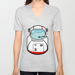Astronaut Bitcoin Patch Unisex V-Neck