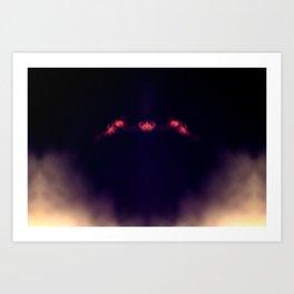 Blood Moon Shadow Art Print