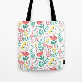 Flower Lovers - White Tote Bag
