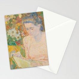 Portrait of Mrs Marie Jeannette de Lange (1900) by Jan Toorop Stationery Cards