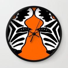 Two Face Zebra Wall Clock
