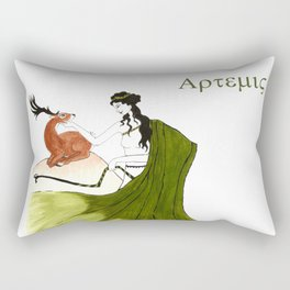 The Lady Artemis, The Goddess of the Hunt Rectangular Pillow