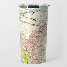 Vintage Map of Savannah Georgia (1955) Travel Mug