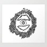 d2d - Eye Art Print