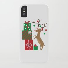 Reindeer iPhone X Slim Case