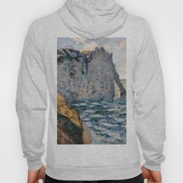 1885-Claude Monet-The Cliff of Aval, Etrétat Hoody