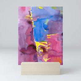 Colorful Abstract Seaside Village Mini Art Print