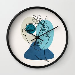woman in loved  Wall Clock