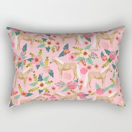 Palomino Horse floral farm nature animal horse lovers ponies florals Rectangular Pillow