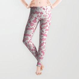 Pink Candies Pattern Leggings