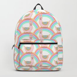 Rainbow alpaca love Backpack