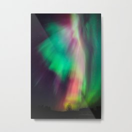 Big beautiful multicolored northern lights in Finland Metal Print