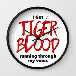 Tiger Blood Wall Clock