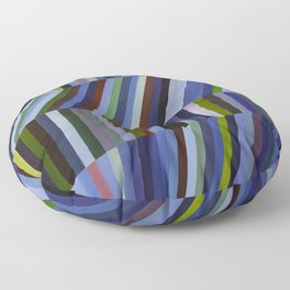Abstract Angled Blue Floor Pillow