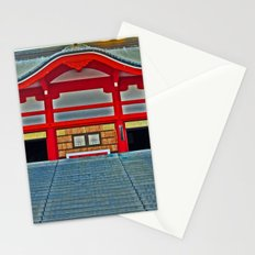 Red Temple Stationery Cards